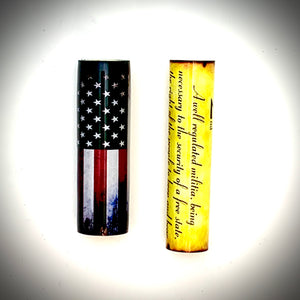 2nd Amendment / Distressed US Flag patriotic pen blanks! Made to fit the Jr. Gent style of pen kit. Double tubed and ready for turning