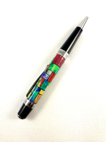 New stained glass pen! Choose from Black Titanium, Sierra Style, or Faux Carbon Fiber Sierra Style!