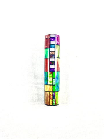 "(A) New Stained Glass pen blanks! Beautiful, eye-popping colors and patterns. Available to fit any ""Sierra Style"" pen kit!"