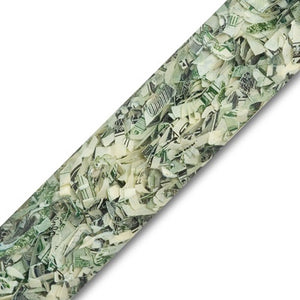 Shredded cash pen blanks made from genuine shredded U.S. Currency! Cast in premium Alumilite resin!