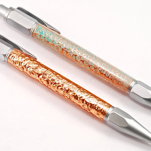 Hammered Copper Click Pen Set (2)