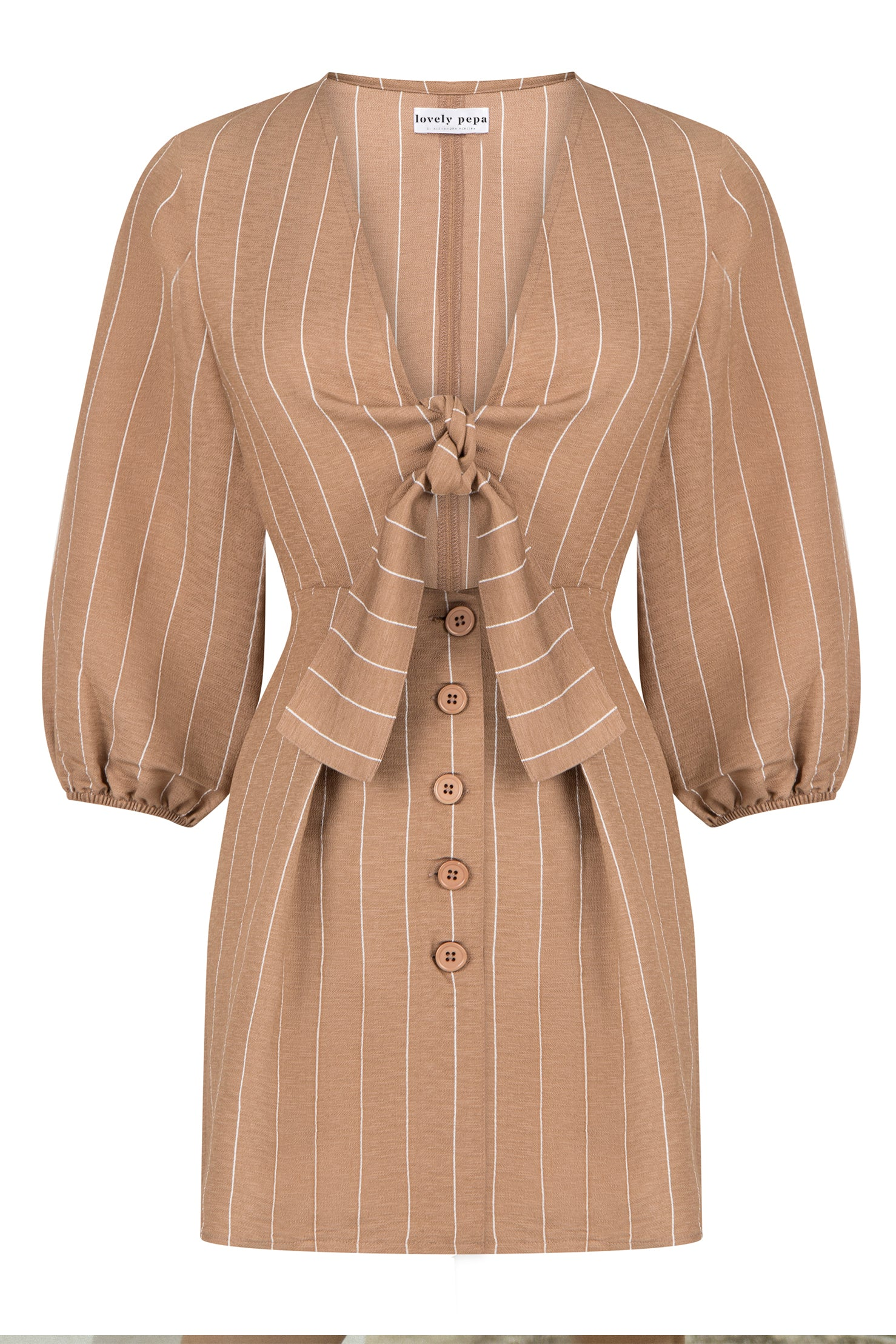 Addison Dress - Brown