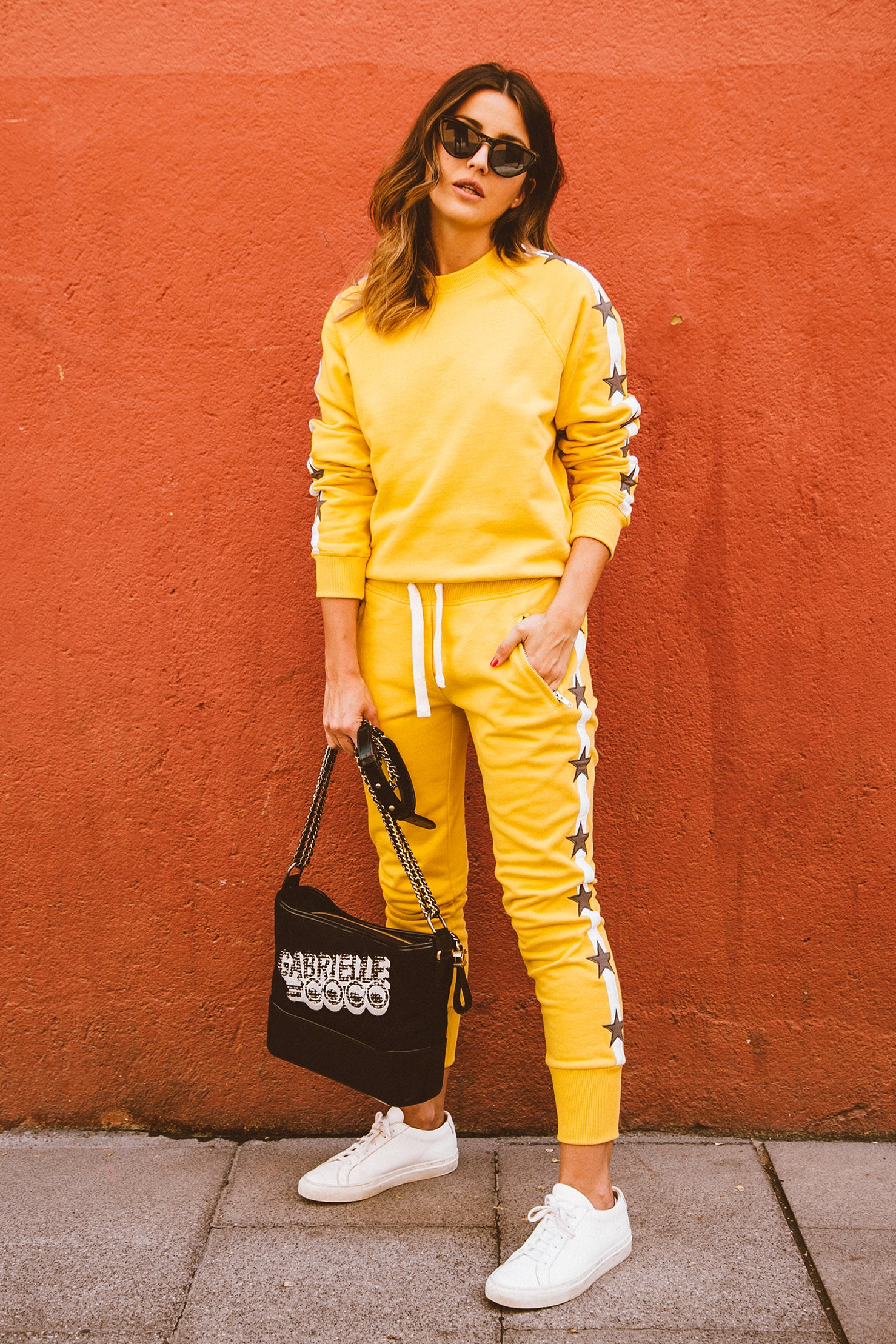 Track Star Joggers - Vintage Yellow