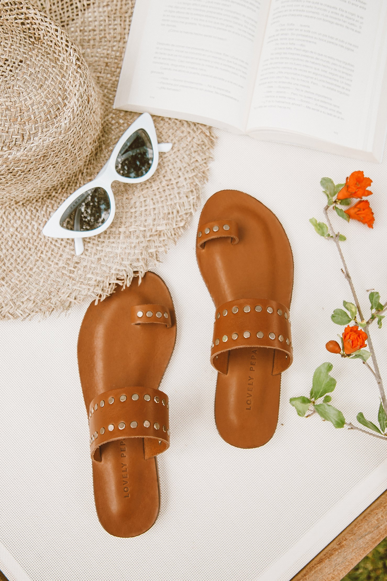 Athens Studded Leather Sandals