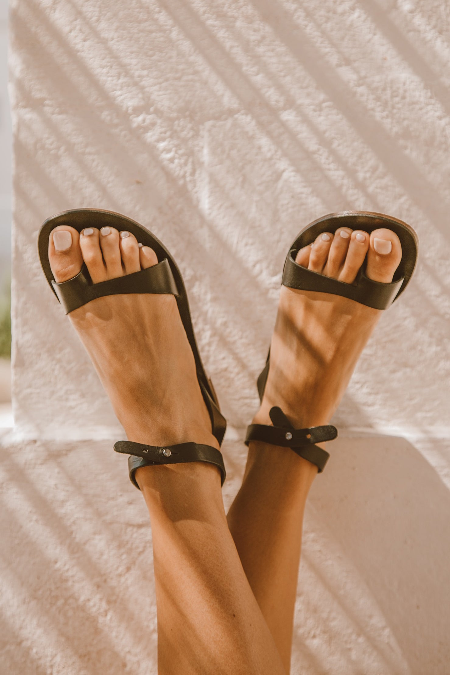 Etta Leather Sandal - Black
