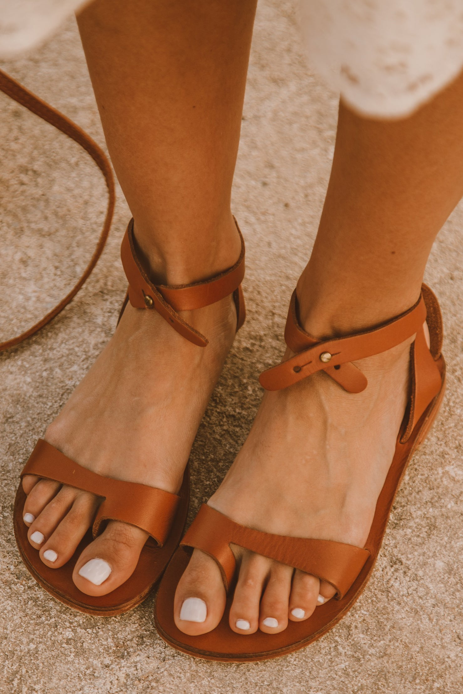 Etta Leather Sandal - Brown