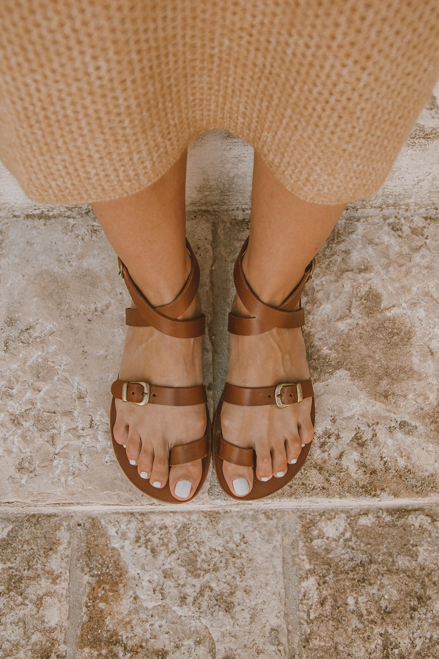 Lexy Leather Sandal - Brown