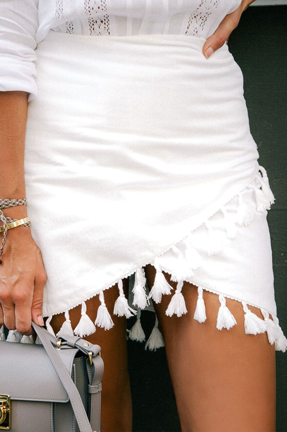 Lovely Pepa Collection | Caicos Skirt in White