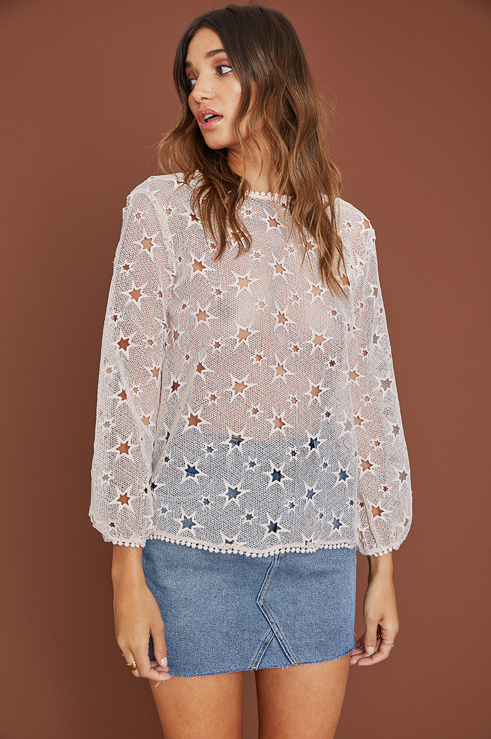 Lovely Pepa Collection | Lucia Embroidered Top in Rose