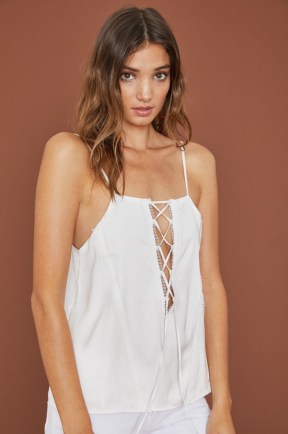 Lovely Pepa Collection | Shiraz Lace-Up Camisole in White