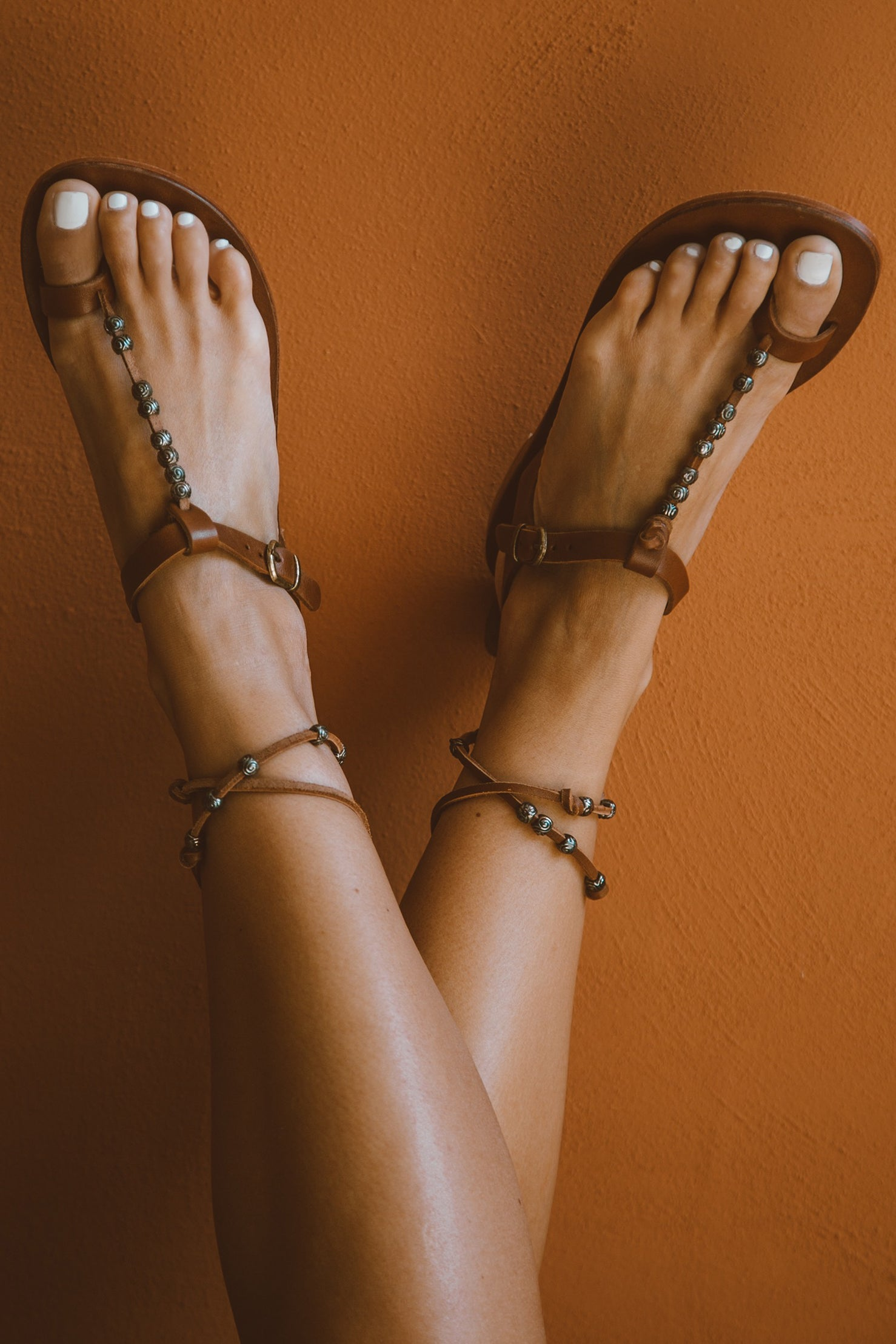 Fey Leather Sandal - Brown