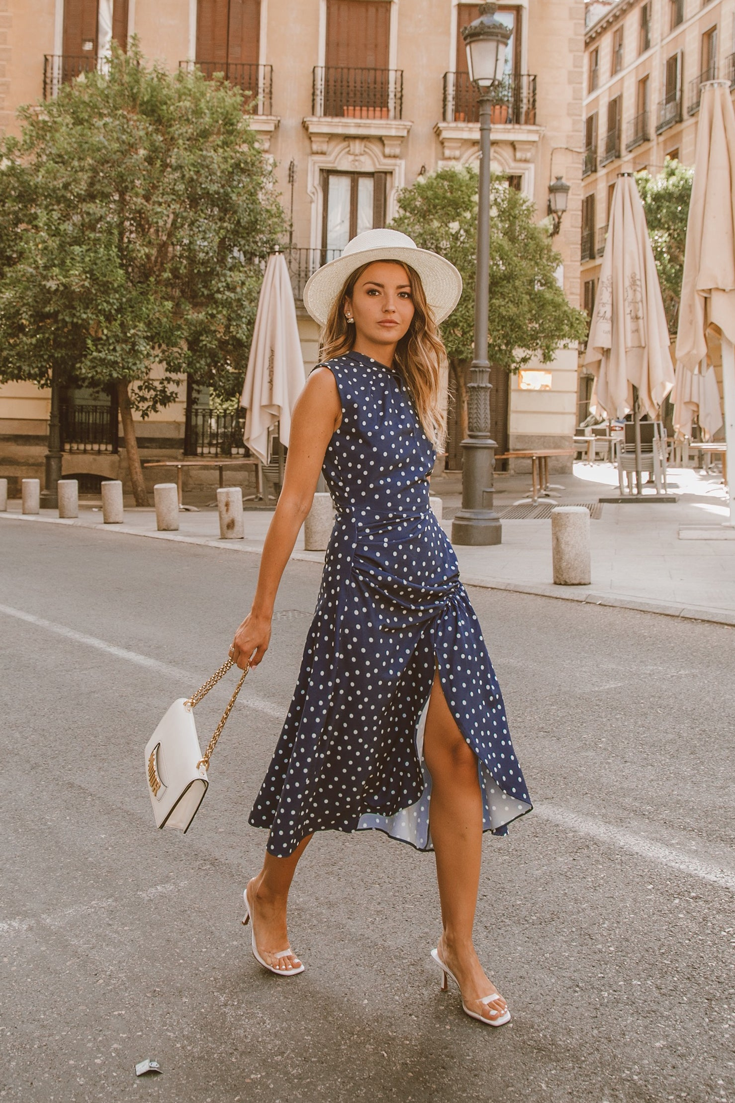 Morgan Dress - Navy