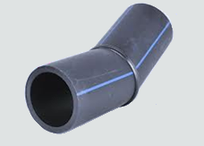 "sdr11 hdpe butt fusion 22-1/2° elbow, fully rated, 2 segment, fabricated 10"" made from SDR9 pipe   B237"