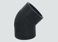 "sdr9 hdpe butt fusion 45° elbow  molded  6""  8/box  B705"