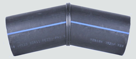 "sdr7 hdpe butt fusion 45° 8"" fabricated not fully pressure rated   B212"
