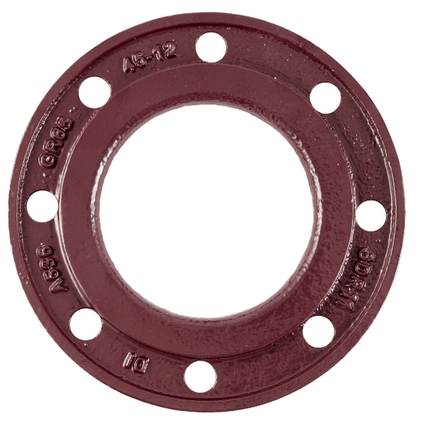 "sdr 7 / 9 backing ring ductile iron 4""   B296"