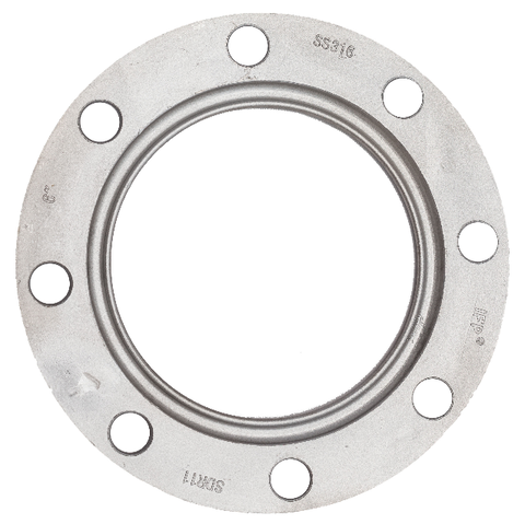 "SDR11/17 backing ring, stainless steel, 128 psi, 10""   B440"