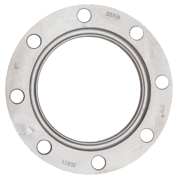 "SDR11/17 backing ring, stainless steel, 128psi, 8""   B415"