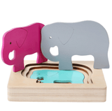 Wooden Multi-layer Colorful Animal Puzzle