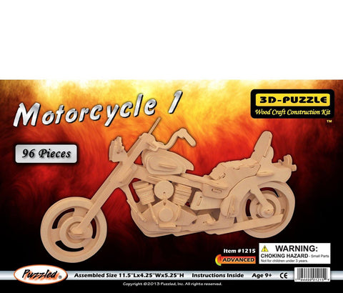 3D Puzzles - Motorcycle 1 (96 pcs)