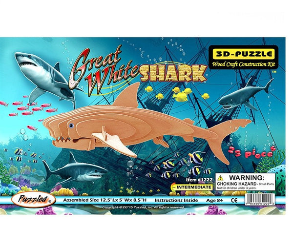 3D Puzzles - Great White Shark