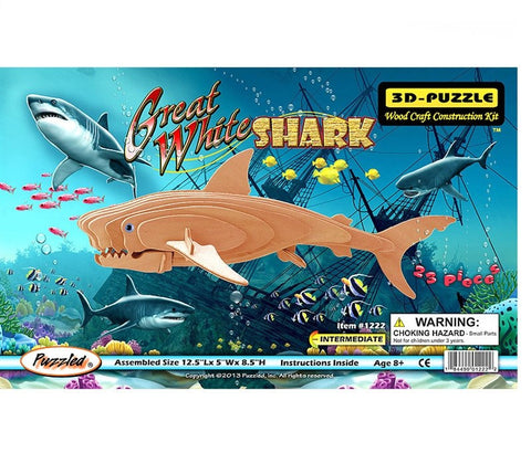3D Puzzles - Great White Shark (23 pcs)