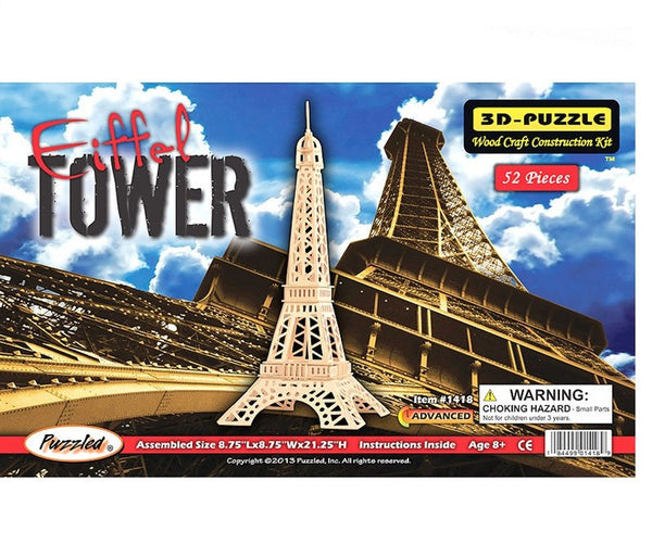 3D Puzzles - Eiffel Tower (52 pcs)
