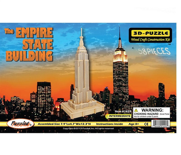 3D Puzzles - The Empire State Building (58 pcs)