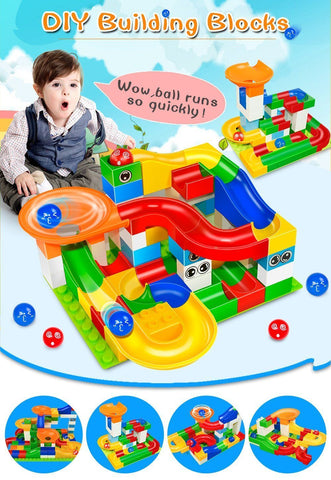 Buy 8 Get 7 Crazy Happy Ball - Marble Race Track - 48 Large Pieces Set