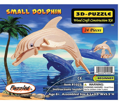 3D Puzzles - Small Dolphin (24 pcs)