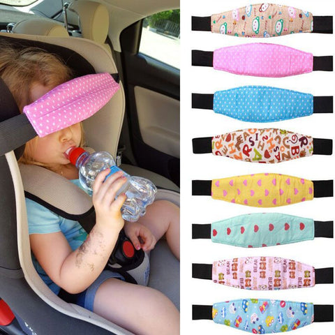 Baby head support for car seat