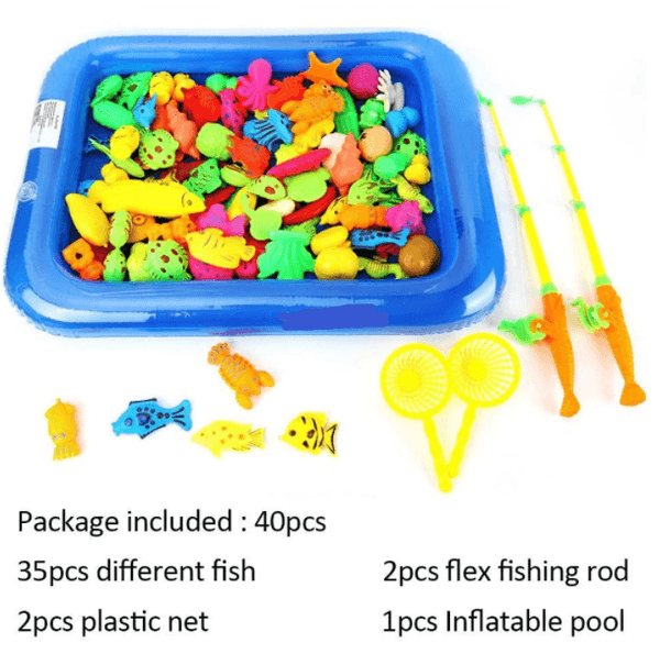 Magnetic Fishing Toy Rod Net Set