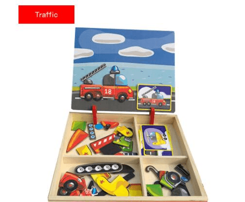 Magnetic Puzzle Wooden Toy