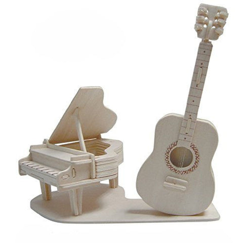 3D Puzzles - Guitar & Piano (51 pcs)