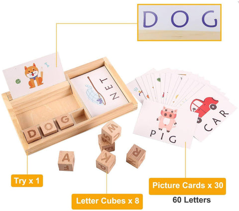 Matching Wonder - Letter Wooden Game
