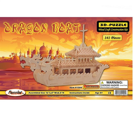 3D Puzzles: Dragon Boat (141 pcs)