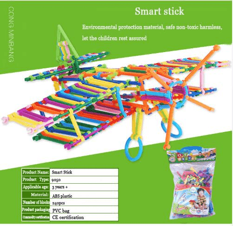 Smart Stick Assembled Building Blocks