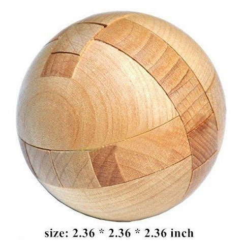 Wooden Puzzle Magic Ball Brain Teasers Intelligence Game