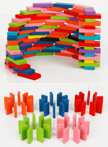 Wooden Colorful Dominos