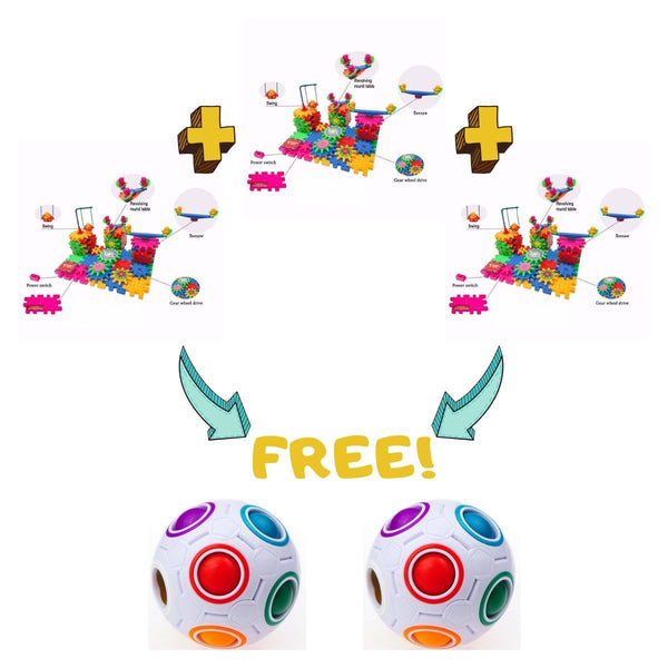 Buy 3 Wonder Gears™ Get 2 Magic Rainbow Ball Puzzle for FREE!