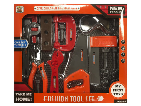 Kids Fashion Tool Set with Real Tools (17 pcs)