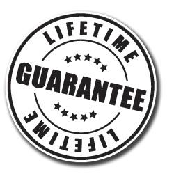 Lifetime Guarantee For All Products In Your Cart
