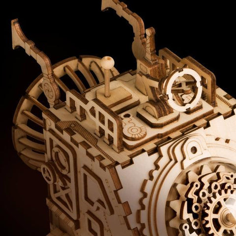 Wooden Mechanical DIY Puzzle - Spaceship
