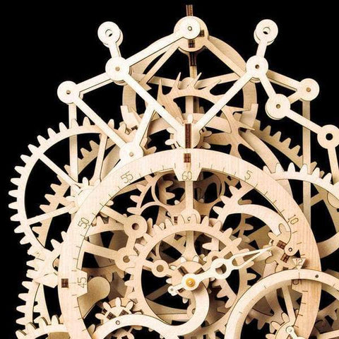 Wooden Mechanical DIY Puzzle - Pendulum Clock