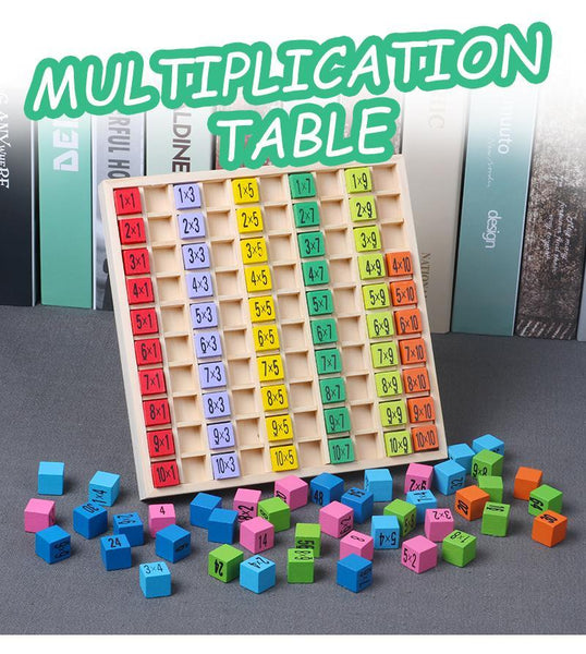 Wooden Montessori Multiplication Table