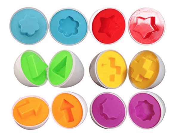 Matching Shapes And Colors Puzzle Eggs