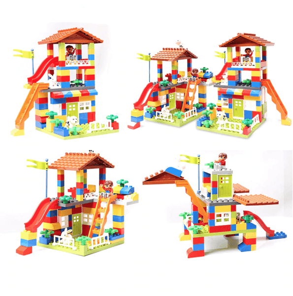 DIY Colorful Building Blocks House Castle