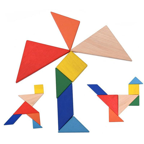 Wooden Tangram Jigsaw Puzzle Toy