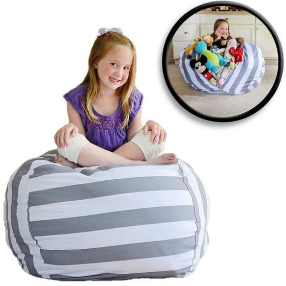 Stuffed Bean™ Bag-Chair Storage