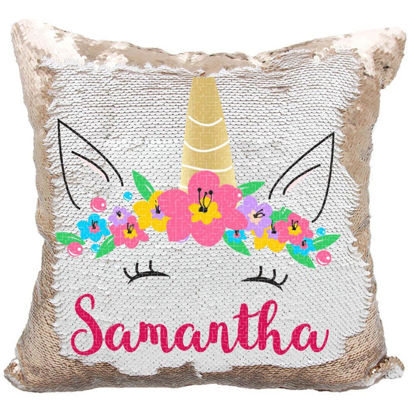 Personalized Unicorn Sequin Pillow Case